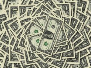 веер долларов